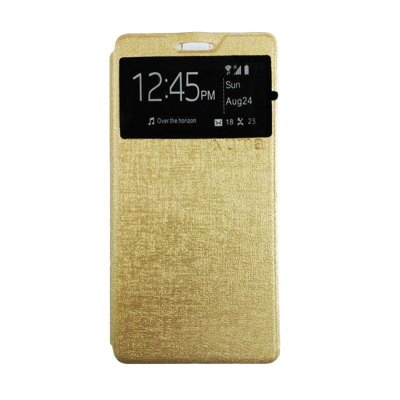 Ume Flip Cover Casing for Asus Zenfone 2 5 Inch - Gold