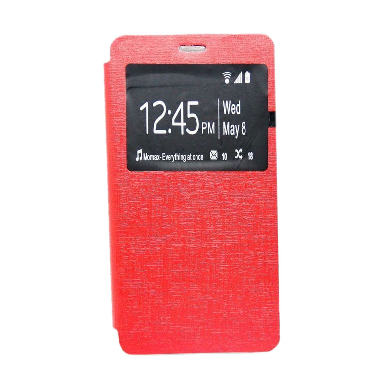 Ume Flipcover Casing for Asus Zenfone 2 [5 Inch] - Merah