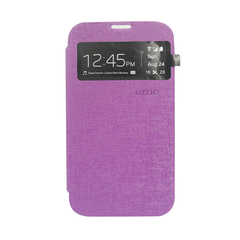 Ume Flip Cover Casing for Asus Zenfone 2 5 inch - Ungu
