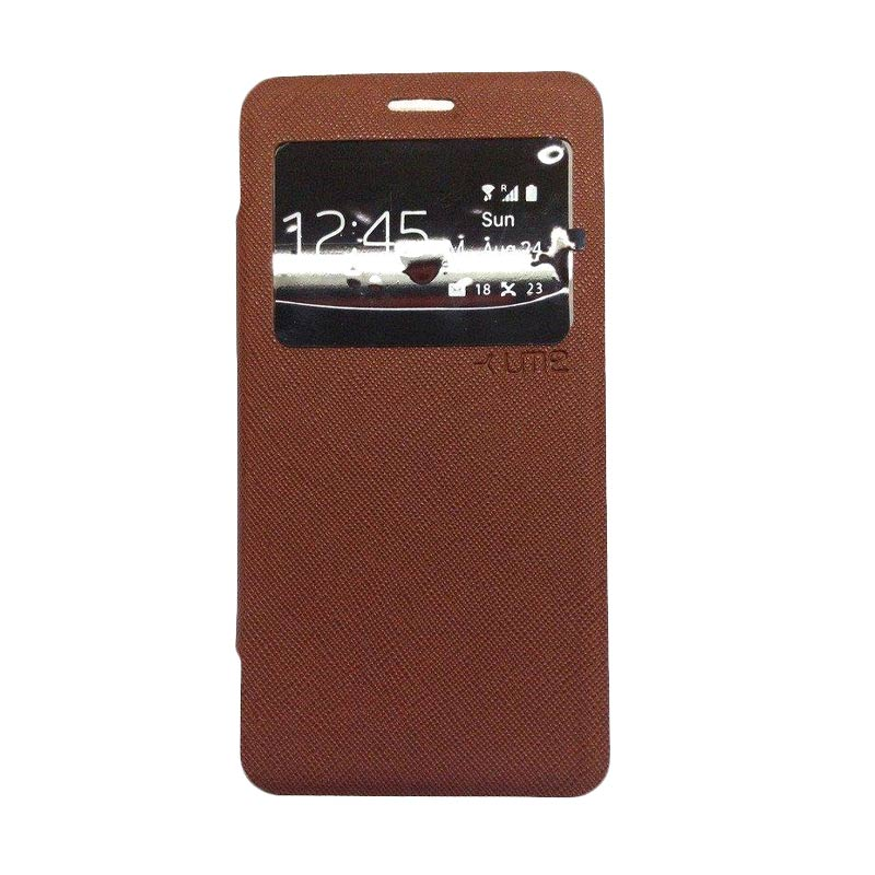 Ume Flip Cover Casing for Asus Zenfone 4 - Coklat