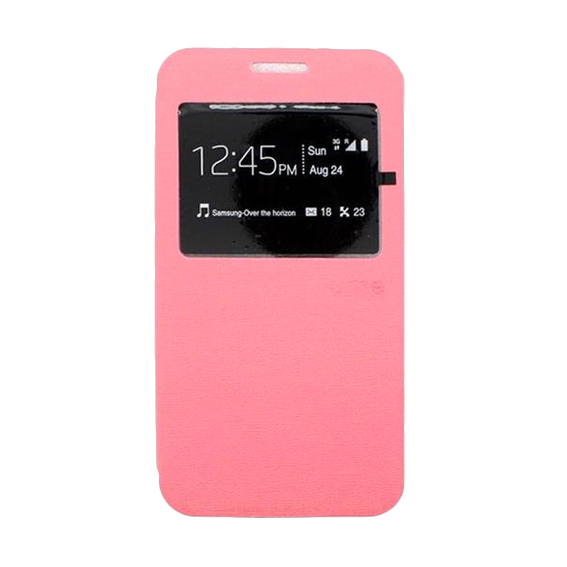 Ume Flip Cover Casing for Asus Zenfone 4 - Pink