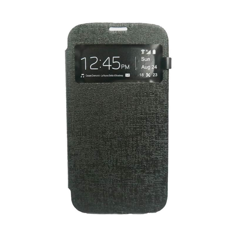 Ume Flip Cover Casing for Asus Zenfone Max - Hitam