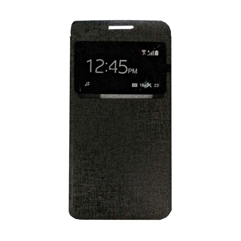 harga Ume Flip Cover Casing for Alcatel Flash 2 Flipshell / Leather Case / Sarung HP / Sarung Handphone / View - Hitam Blibli.com