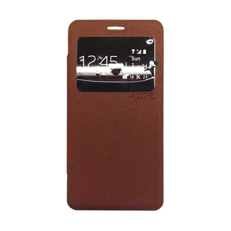 Ume Flip Cover Casing for Samsung Galaxy J1 Ace - Coklat