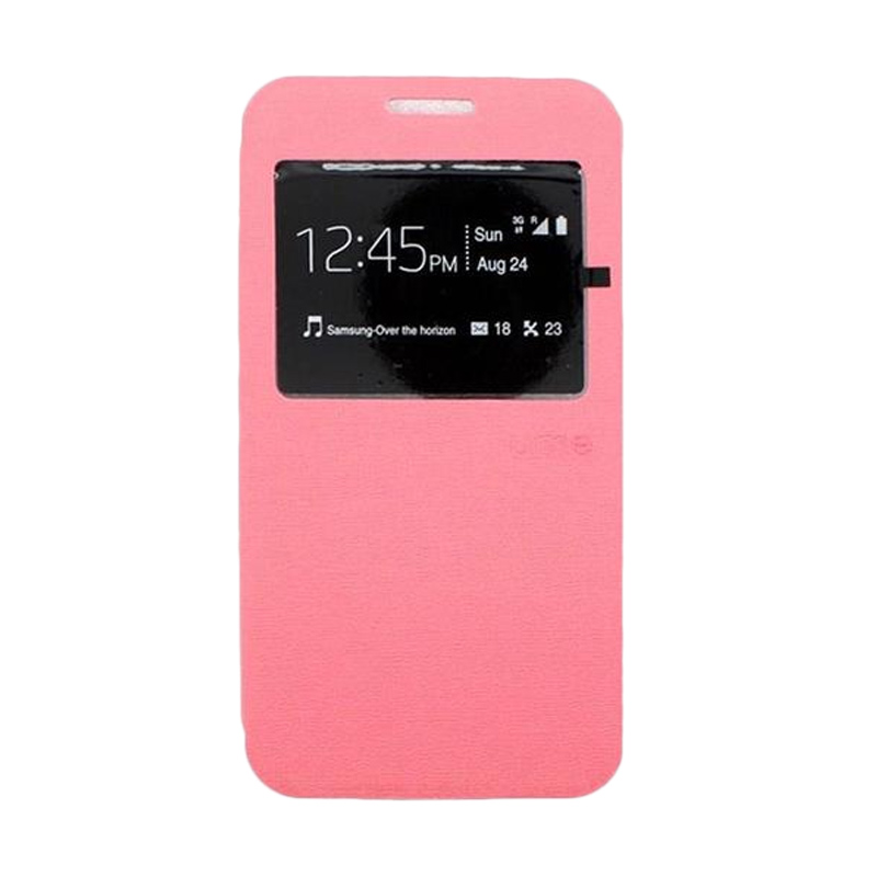 Ume Flip Cover Casing for Samsung Galaxy J1 Ace - Pink