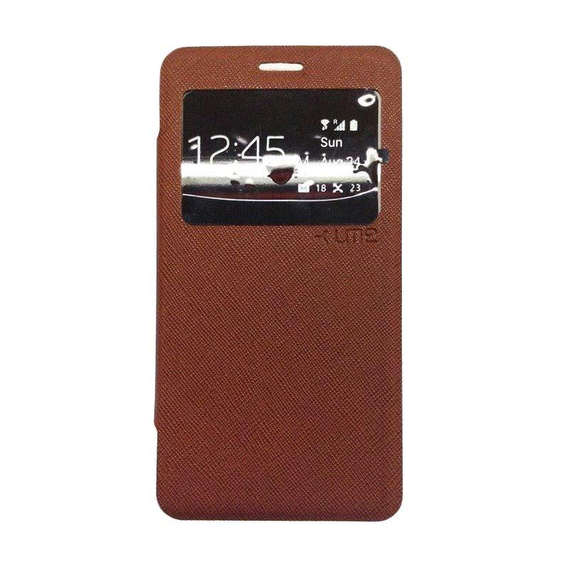 Ume Flip Cover Casing for Samsung Galaxy J5 - Coklat