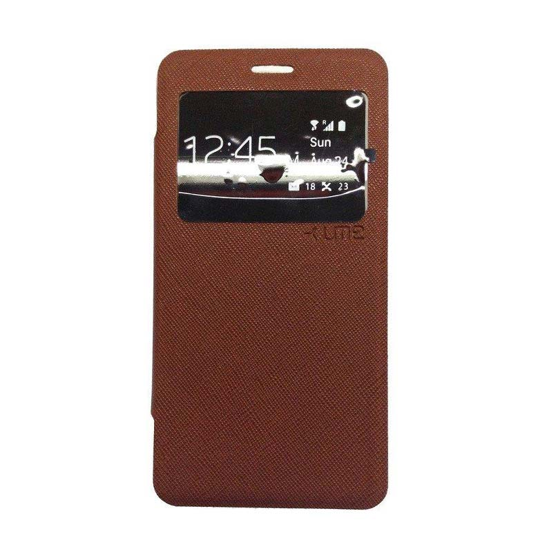 Ume Flip Cover Casing for iPhone 6 - Coklat [4.7 inch]
