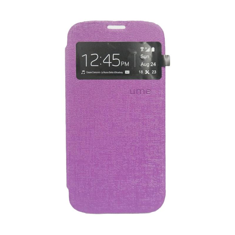 Ume Flip Cover Casing for iPhone 6 Plus - Ungu [5.5 Inch]