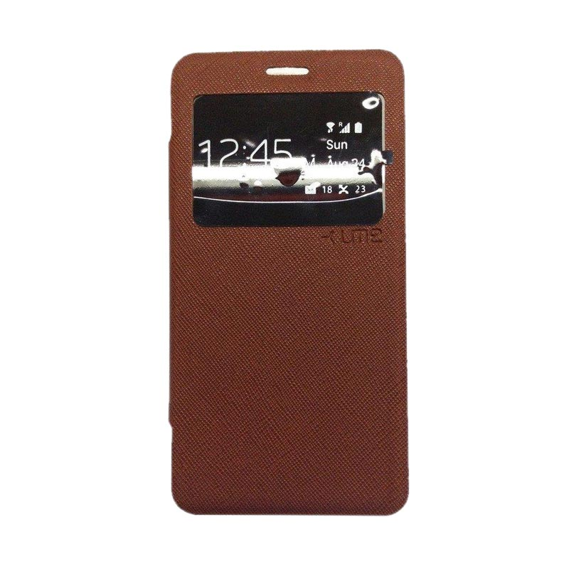 Ume Flip Cover Casing for Lenovo A7000 - Coklat