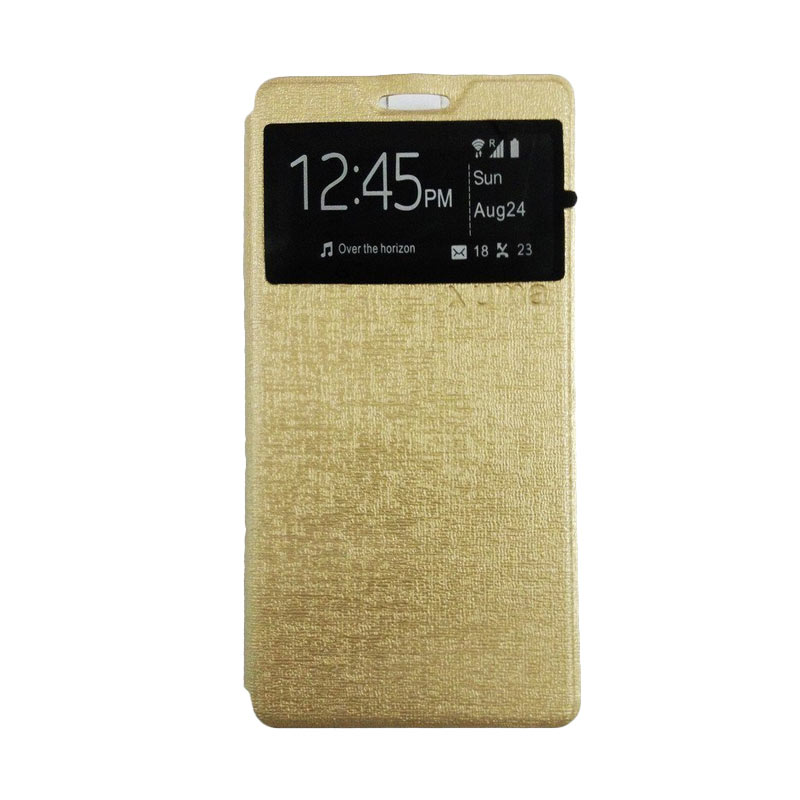 Ume Flip Cover Casing for Lenovo A7010 - Gold
