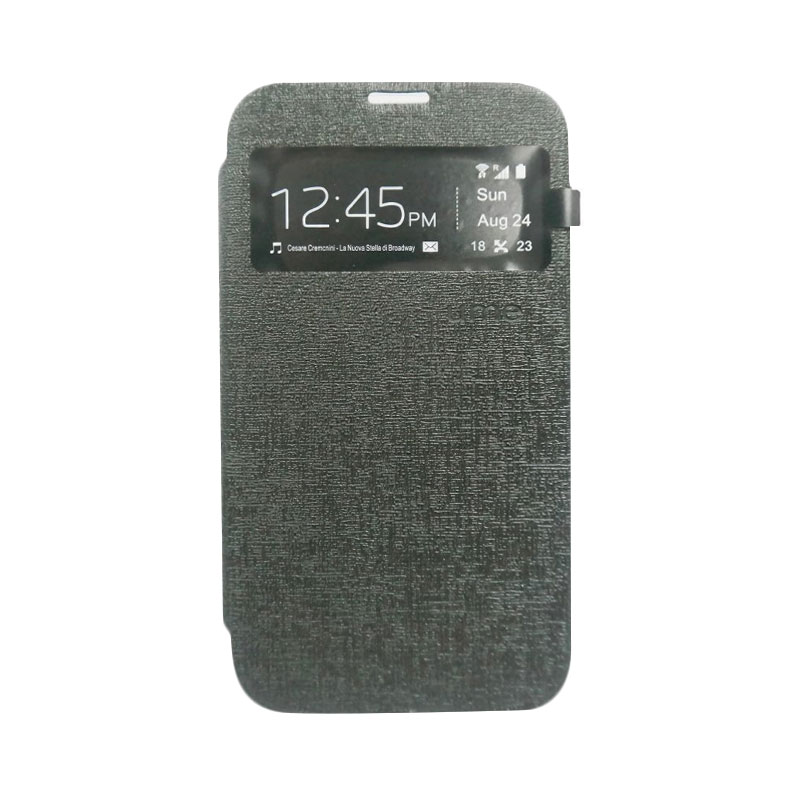 Ume Flip Cover Casing for Lenovo A7010 - Hitam