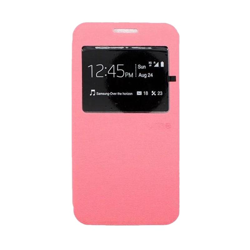 Ume Flip Cover Casing for Lenovo A7010 - Pink