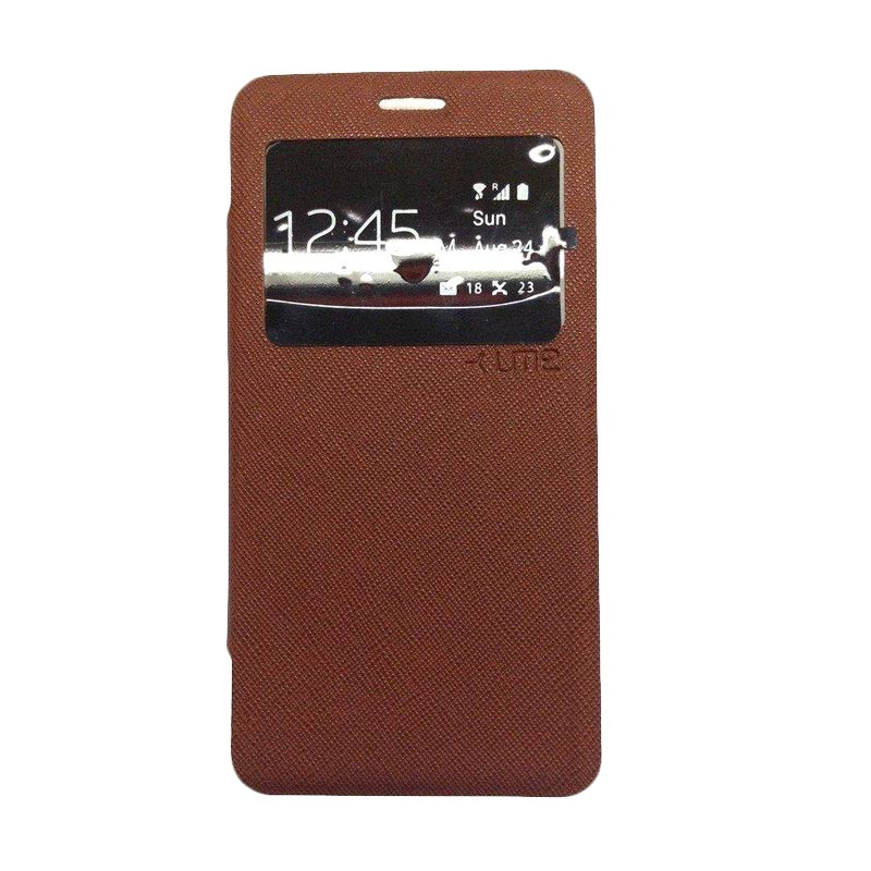 Ume Flipcover Casing for Samsung Galaxy A310 - Coklat