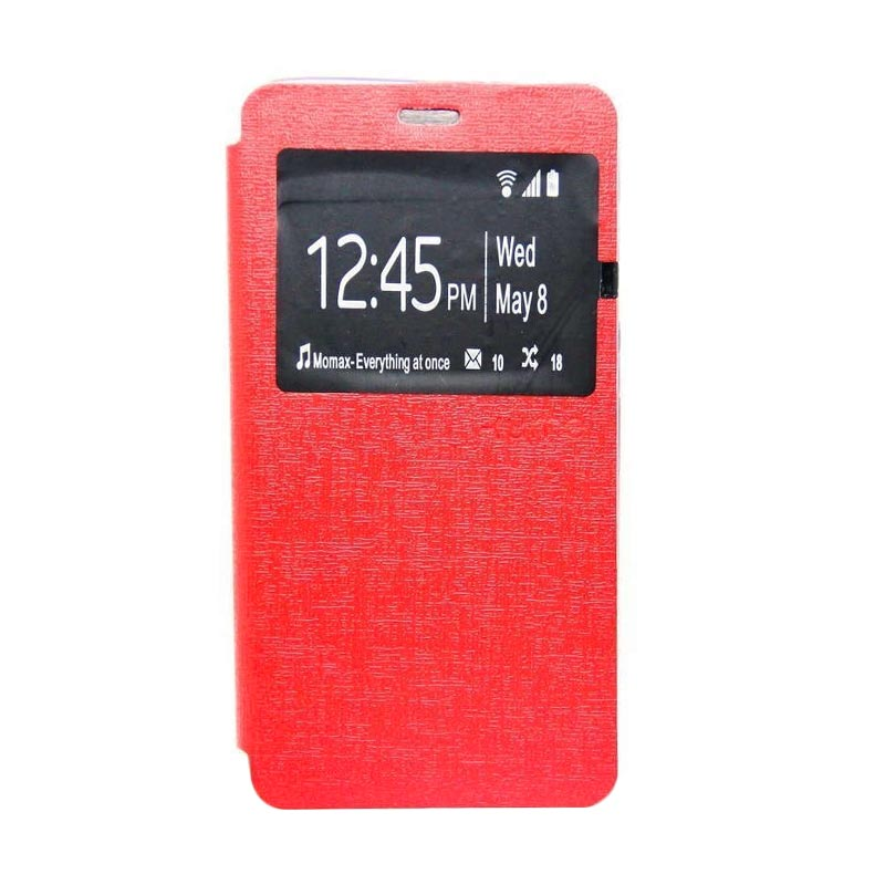 Ume Flip Cover Casing for Samsung A310 - Merah