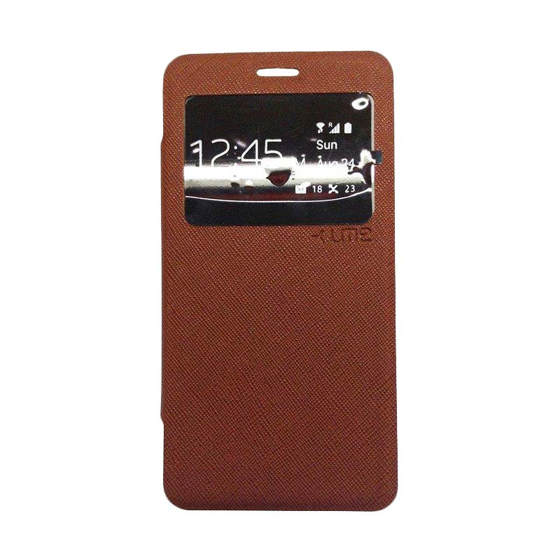 Ume Flip Cover Casing for Samsung A510 - Coklat
