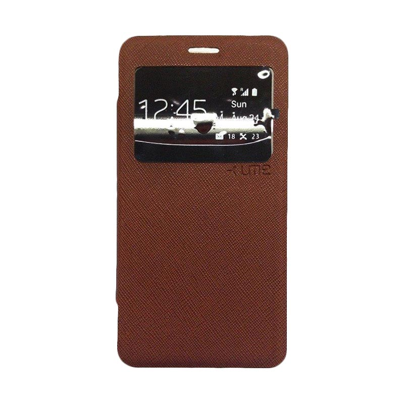 Ume Flipcover Casing for Samsung Galaxy A710 - Coklat
