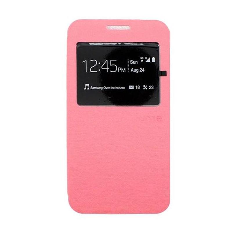 Ume Flip Cover Casing for Samsung Galaxy E5 - Pink