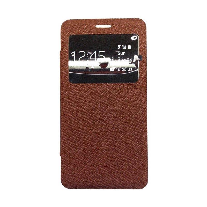 Ume Flip Cover Casing for Samsung Galaxy E7 - Coklat