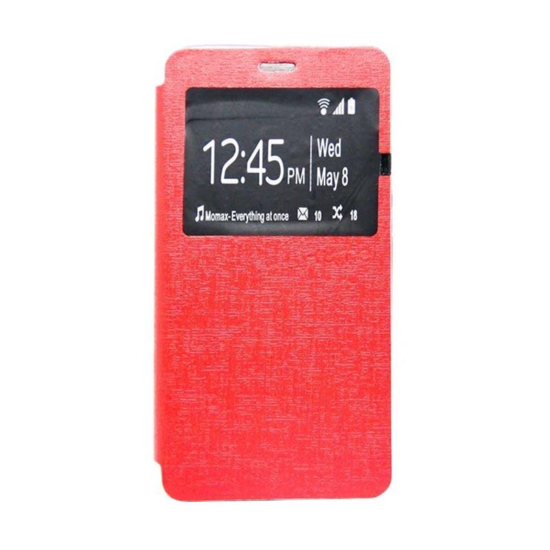 Ume Flip Cover Casing for Samsung Galaxy E7 - Merah
