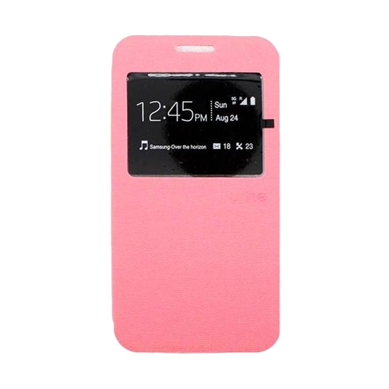 Ume Flip Cover Casing for Samsung Galaxy E7 - Pink