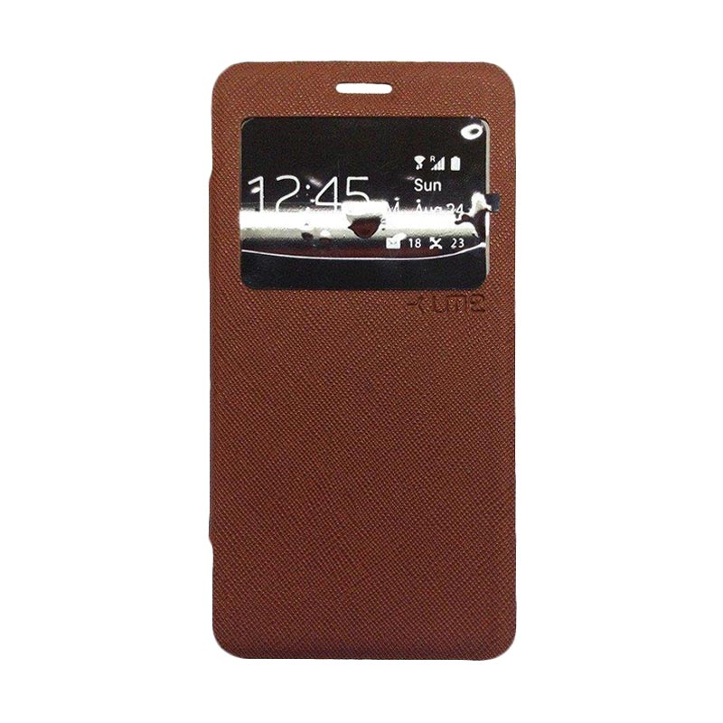 Ume Flip Cover Casing for Samsung Galaxy J7 - Coklat