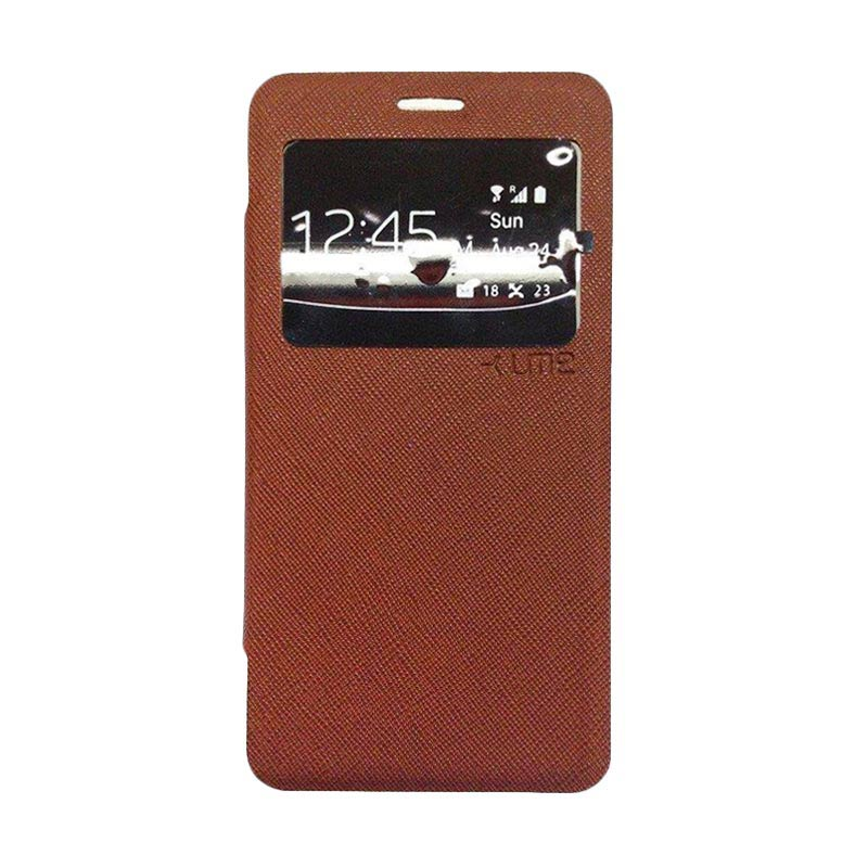 Ume Flip Cover Casing for Samsung Galaxy S6 - Coklat