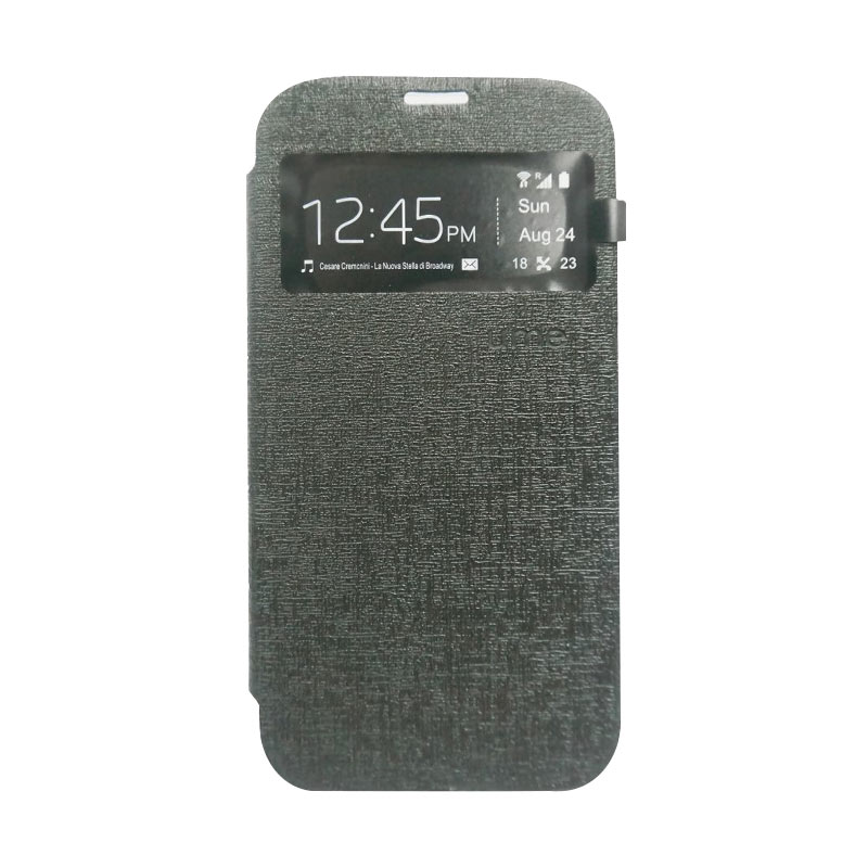 Ume Flip Cover Casing for Samsung Galaxy S6 - Hitam