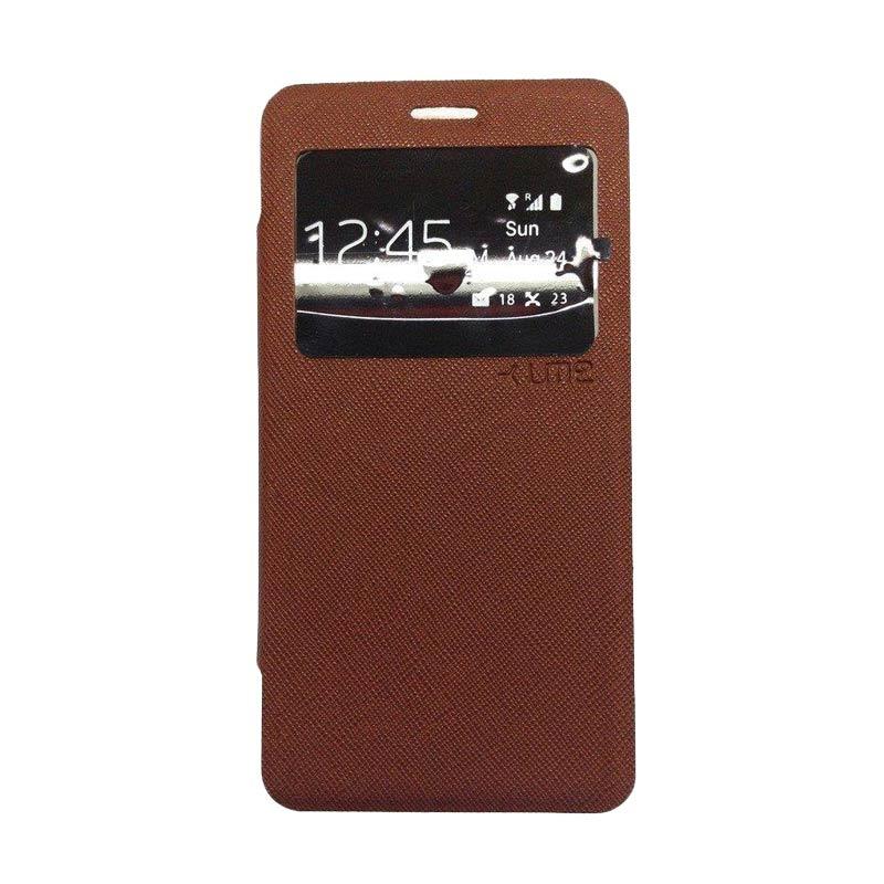 Ume Flip Cover Casing for Xiaomi Redmi Note - Coklat