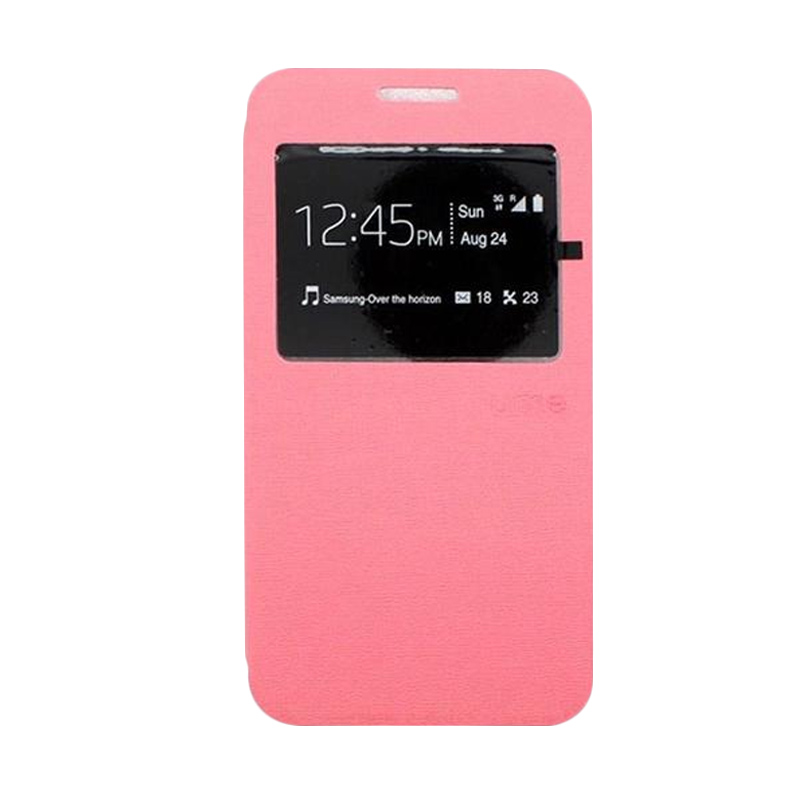 Ume Flip Cover Casing for Xiaomi Redmi Note - Pink
