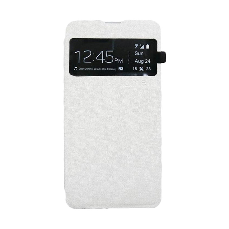 Ume Flip Cover Casing for Xiaomi Redmi Note - Putih