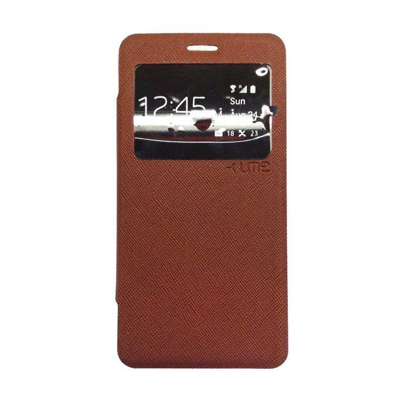 Ume Flip Cover Casing for Xiaomi Redmi Note 3 - Coklat