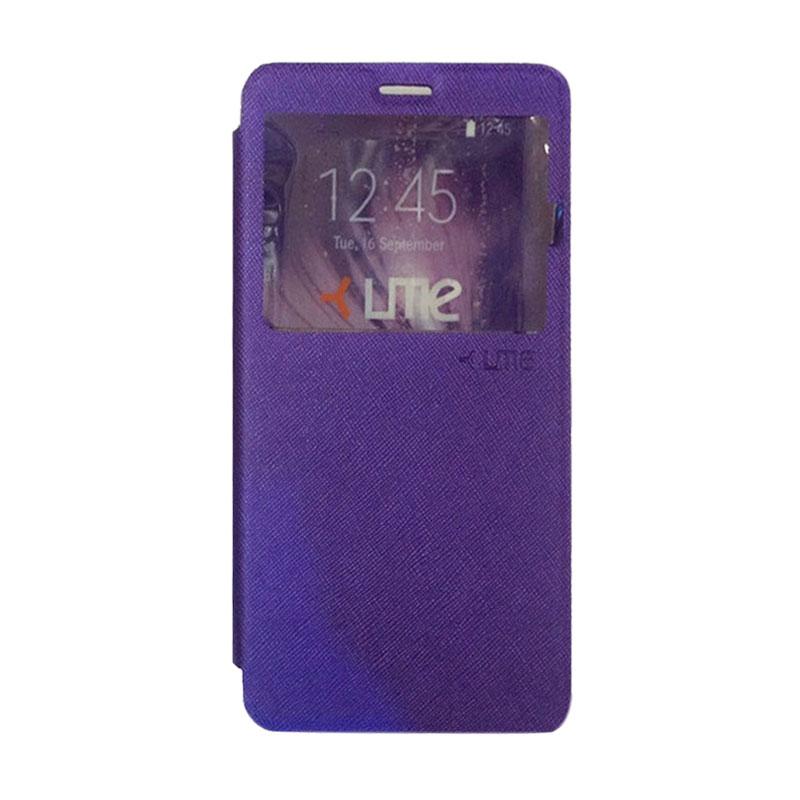 harga Ume Flipcover Casing for Huawei 4C Flipshell / Leather Case / Sarung HP / Sarung Handphone / View - Ungu Blibli.com
