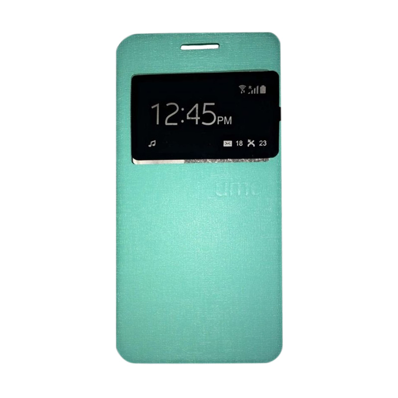 harga Ume Flip Cover Casing for Huawei Honor 4X Flipshell / Leather Case / Sarung HP / Sarung Handphone / View - Hijau Tosca Blibli.com