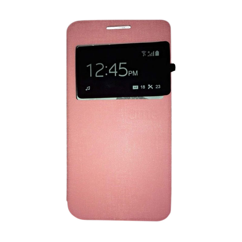 harga Ume Flip Cover Casing for Infinix Note2 X600 Flipshell / Leather Case / Sarung HP / Sarung Handphone / View - Pink Blibli.com