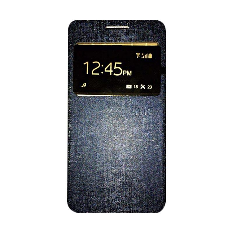 harga Ume Flip Cover Casing for Infinix X510 / Hot 2 Flipshell / Leather Case / Sarung HP / Sarung Handphone / View - Biru Tua Blibli.com