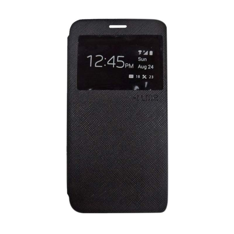 Jual Ume Lather Hitam Flip Cover Casing For LG G3 Stylus