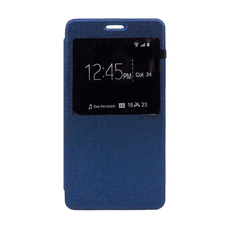 harga Ume Lather Case Flipcase Flipshel Flipcover Biru Donker Casing for LG G4 Stylus Blibli.com