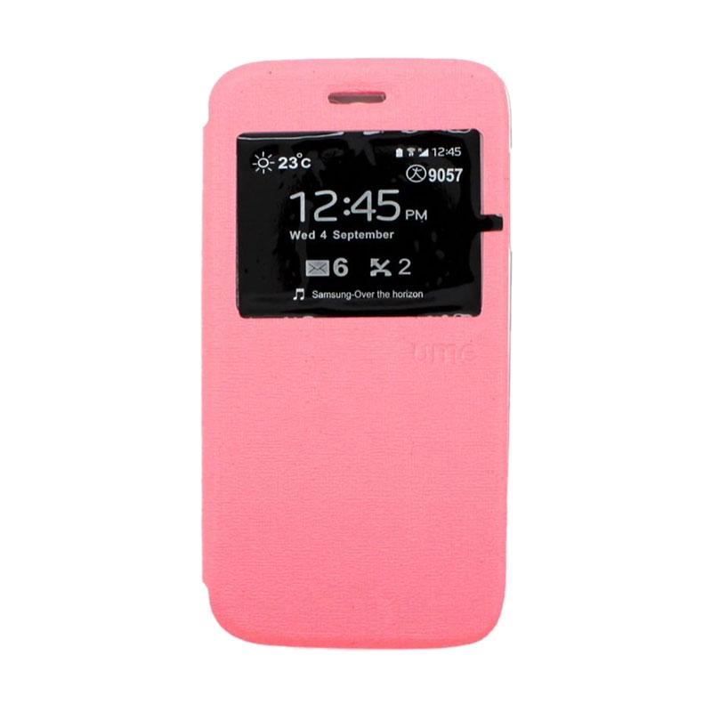 harga Ume For Samsung Galaxy A3 A300 Flipcase Flipshel Flipcover Casing Leather Case Flip Cover - Pink Blibli.com