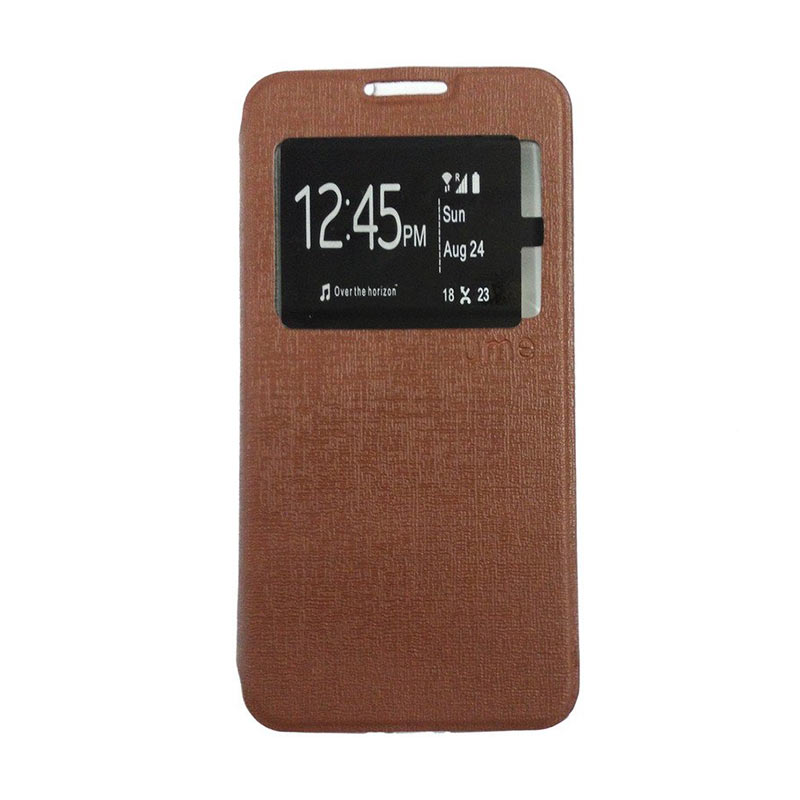 Ume For Samsung Galaxy A5 A510 New 2016 Flipcase Flipshel Flipcover Casing Leather Case Flip Cover - Cokelat