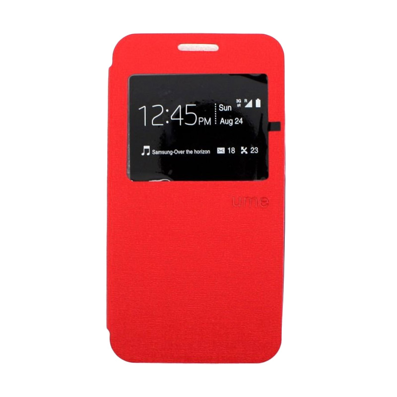 harga Ume Leather Case Merah Flip Cover Casing for Xiaomi Redmi MI 4i Blibli.com