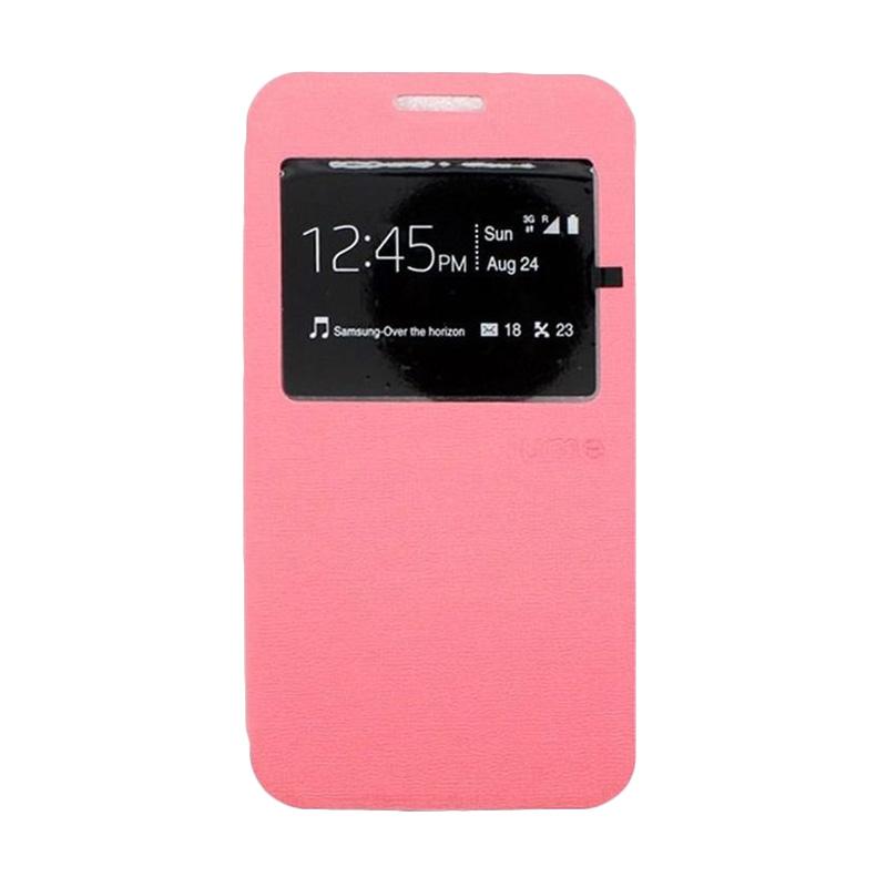 harga Ume Leather Flip Cover Casing for Blackberry BB Z10 - Pink Blibli.com