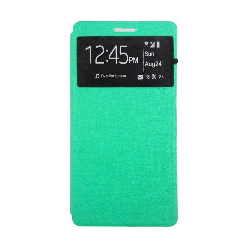 harga Ume Leather Flip Cover Casing for Xiaomi Redmi MI 4I - Hijau Toska Blibli.com