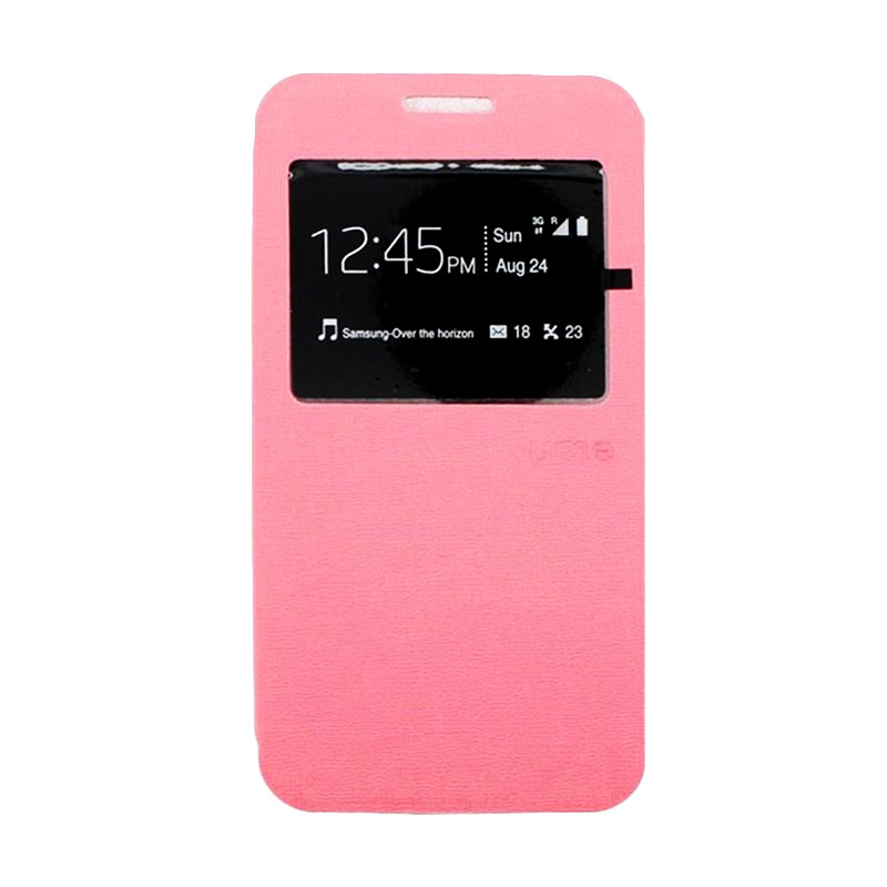 harga Ume Leather Flip Cover Casing for Xiaomi Redmi Mi4i - Pink Blibli.com