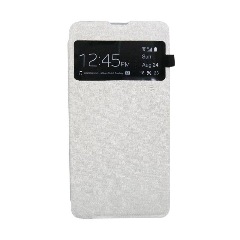 harga Ume Leather Flip Cover Casing for Oppo N1 Mini - Putih Blibli.com