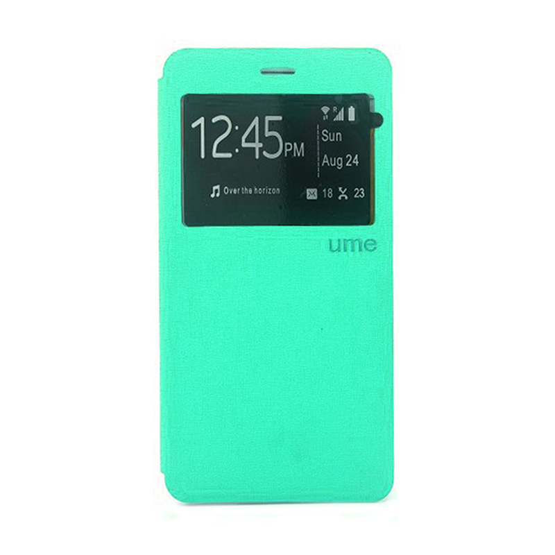 Ume Leather Flipcover Casing for Samsung Galaxy A5 - Hijau Tosca