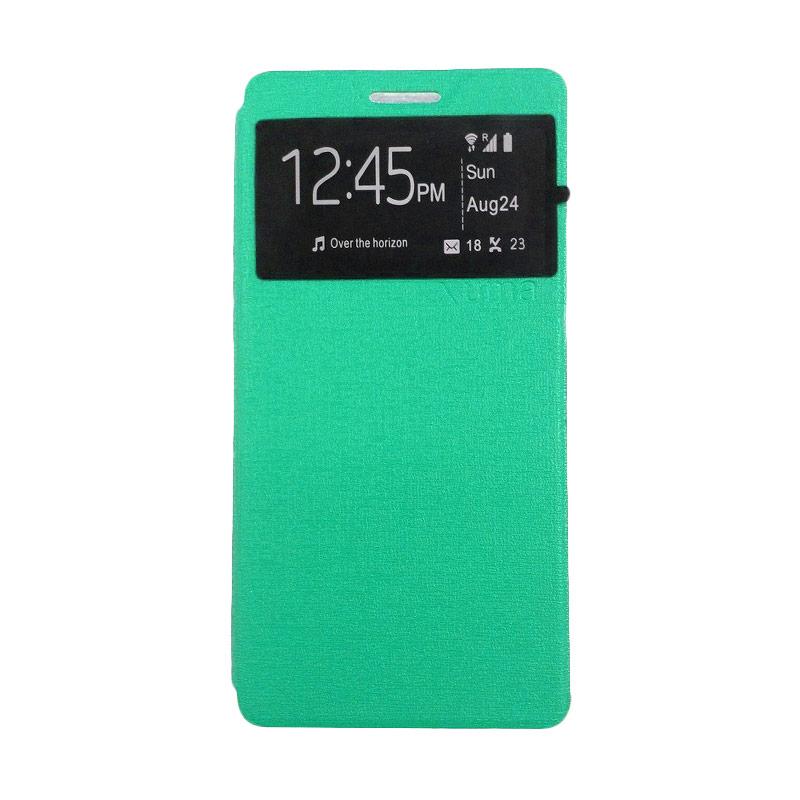 Jual Ume Leather Flipcover Casing for Samsung Galaxy J5 2016 J510 - Hijau Toska Online -