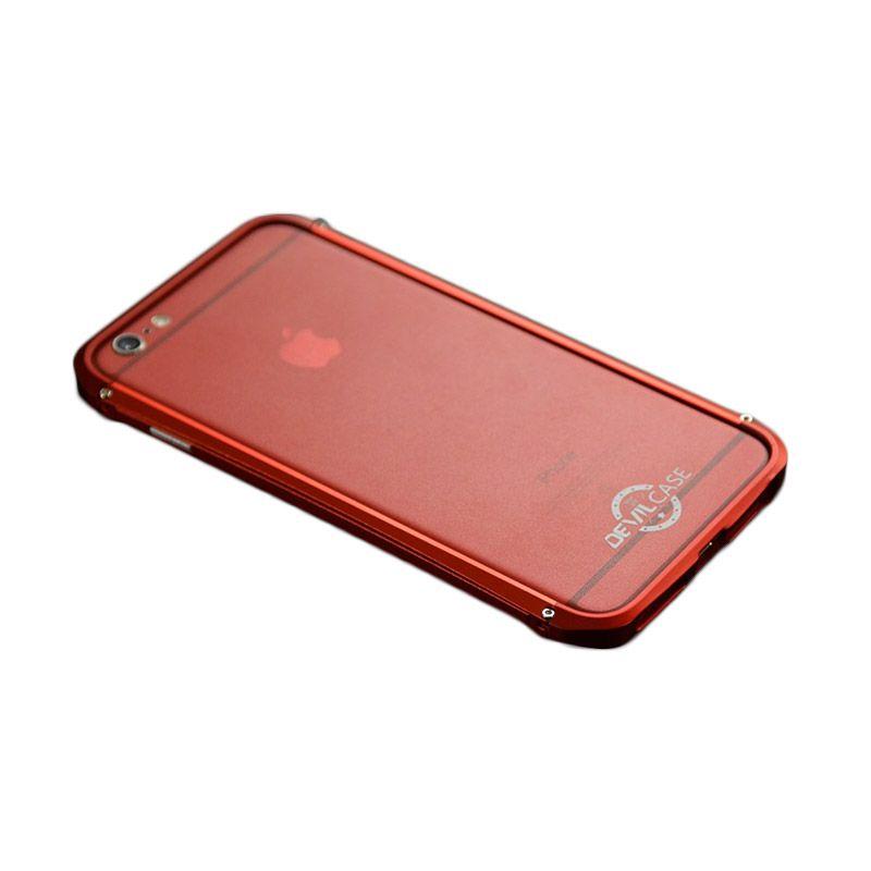 Devilcase Alumunium Bumper Type X Red Casing for iPhone 6 Plus