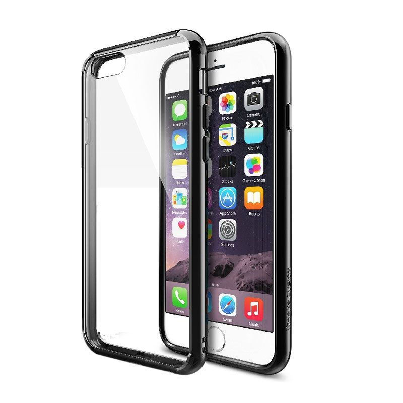 Rearth Ringke Fusion Black Casing for iPhone 6 Plus or iPhone 6 [5.5