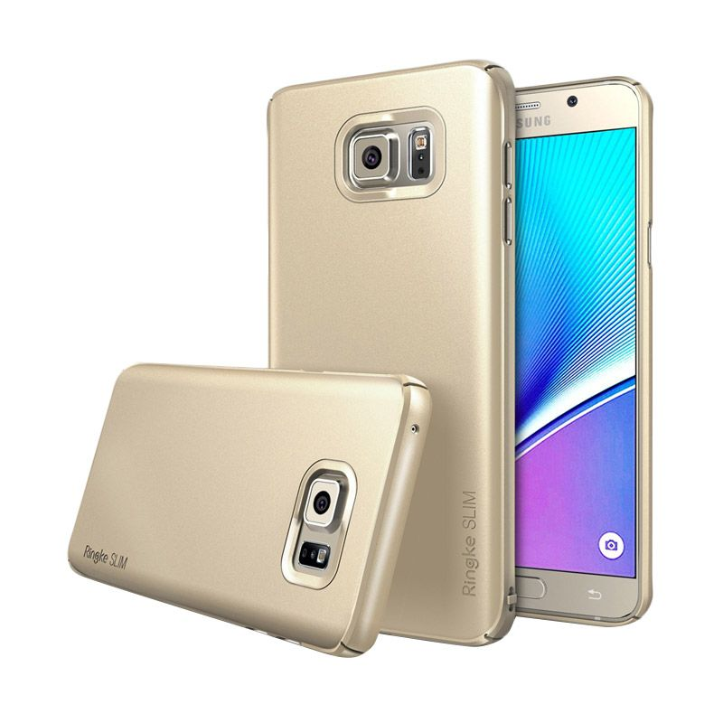 Rearth Ringke Slim Gold Casing for Galaxy Note 5