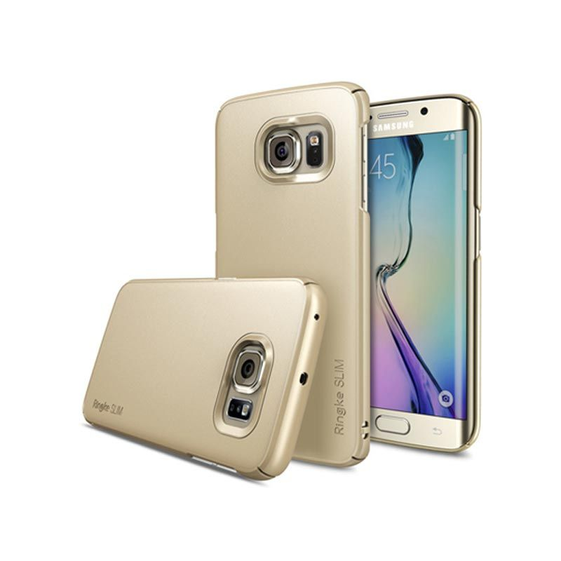 Rearth Ringke Slim Gold Casing for Galaxy S6 Edge